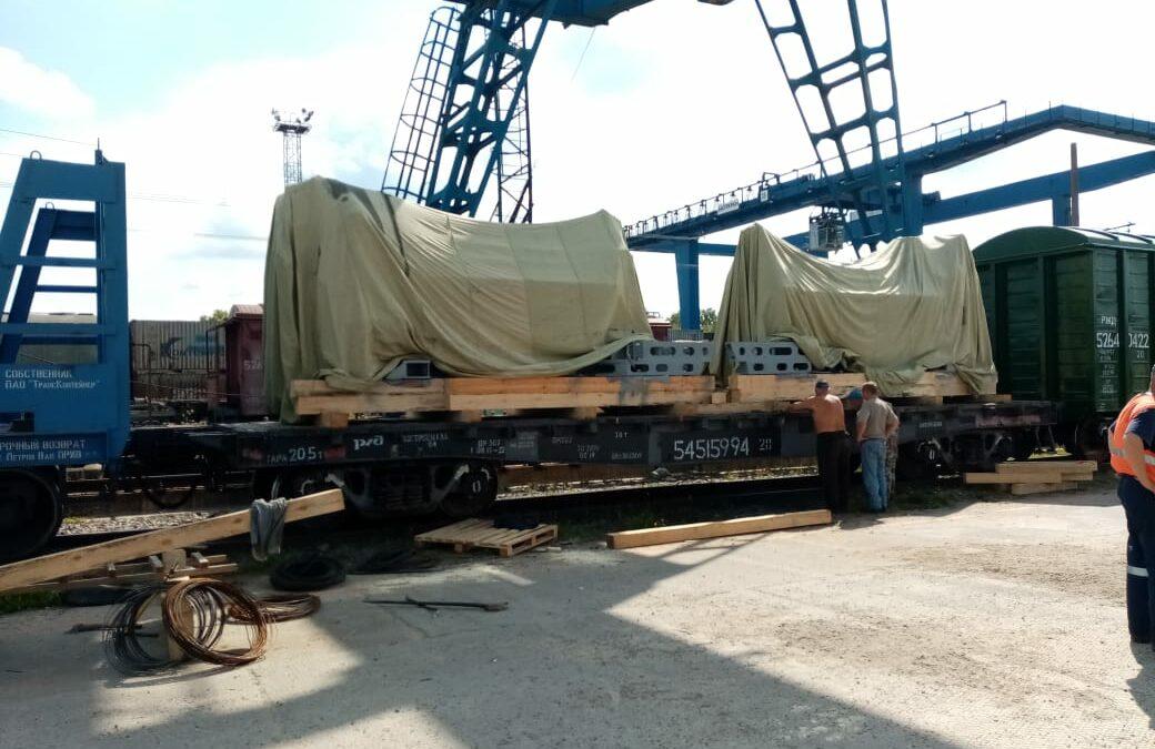 Перевозка по технологии крупнодогруз по направлению Коломна – Уссурийск.